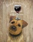 Dog Au Vin, Border Terrier by Fab Funky art print