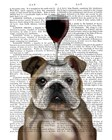 Dog Au Vin, English Bulldog by Fab Funky art print