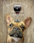 Dog Au Vin, French Bulldog by Fab Funky art print