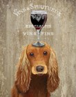 Dog Au Vin, Cocker Spaniel by Fab Funky art print