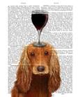 Dog Au Vin, Cocker Spaniel by Fab Funky art print