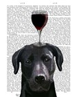 Dog Au Vin, Black Labrador by Fab Funky art print