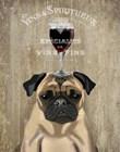 Dog Au Vin, Pug by Fab Funky art print