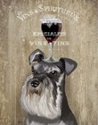 Dog Au Vin, Schnauzer by Fab Funky art print