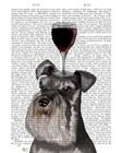 Dog Au Vin, Schnauzer by Fab Funky art print