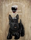 Dog Au Vin, Scottish Terrier by Fab Funky art print