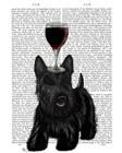 Dog Au Vin, Scottish Terrier by Fab Funky art print