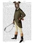 Greyhound Rider by Fab Funky art print