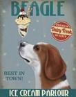 Beagle Ice Cream by Fab Funky art print