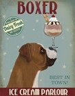 Boxer Ice Cream by Fab Funky art print