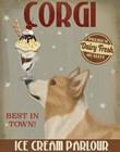 Corgi, Tan, Ice Cream by Fab Funky art print