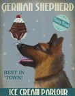 German Shepherd Ice Cream by Fab Funky art print