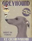 Greyhound, Grey, Ice Cream by Fab Funky art print
