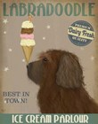Labradoodle, Brown, Ice Cream by Fab Funky art print