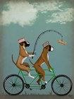 Boxer Tandem by Fab Funky art print