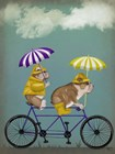 English Bulldog Tandem by Fab Funky art print
