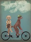 Poodle Tandem by Fab Funky art print