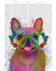 Rainbow Splash French Bulldog, Portrait by Fab Funky art print