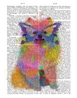 Rainbow Splash Pomeranian by Fab Funky art print