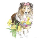 Easter Pups II by Beth Grove art print