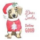Glamour Pups Christmas III Dear Santa by Beth Grove art print