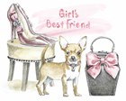 Glamour Pups VI by Beth Grove art print