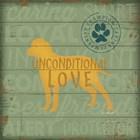 Unconditional Love Dog by Jennifer Pugh art print