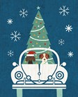 Holiday on Wheels XIII Navy by Michael Mullan art print