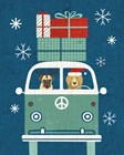Holiday on Wheels XII Navy by Michael Mullan art print
