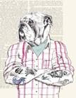 Hipster Socialite by Matt Spencer art print