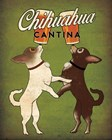 Double Chihuahua v2 by Ryan Fowler art print