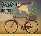 Pug on a Bike Christmas by Ryan Fowler art print