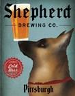 German Shepherd Brewing Co Pittsburgh Black by Ryan Fowler art print
