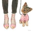 Furry Fashion Friends III by Emily Adams art print