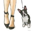 Furry Fashion Friends II by Emily Adams art print