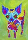 Talavera Happy Chihuahua by Prisarts art print