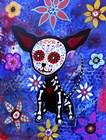Chihuahua Dia De Los Muertos by Prisarts art print