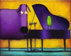 Piano Glam Dog by Daniel Kessler art print