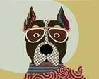 American Staffordshire Terrier by Lanre Adefioye art print