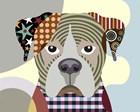 Boxer Dog by Lanre Adefioye art print