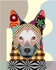 German Shepherd by Lanre Adefioye art print