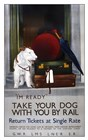 Take Your Dog With You By Rail by Vintage Lavoie art print
