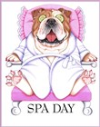 Spa Bulldog by Tomoyo Pitcher art print