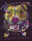 U Cant Ban Happiness by Dean Russo art print