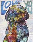 Love You Shih Tzu by Dean Russo art print