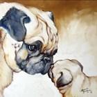 Pug 2 by Marcia Baldwin art print