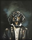 Distinguished Dachshund by Victoria Coleman art print