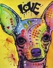 Chihuahua Drip Love by Dean Russo art print