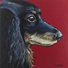 Dachshund Expressive Red by Hippie Hound Studios art print