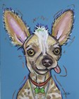 Chinese Crested Spike by Hippie Hound Studios art print